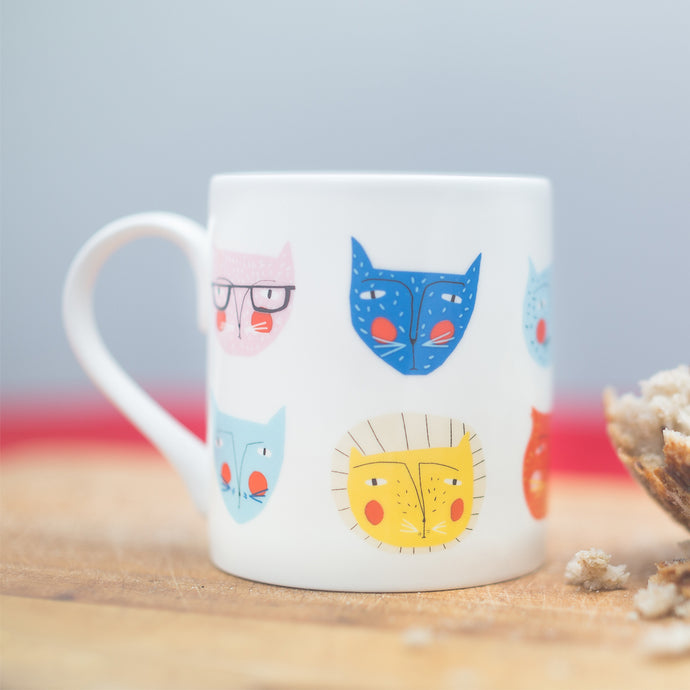 Colourful Cat Mug