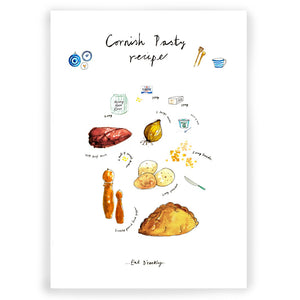 Cornish Pasty Art Print