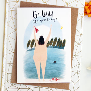 Go Wild Swimmer Birthday Card