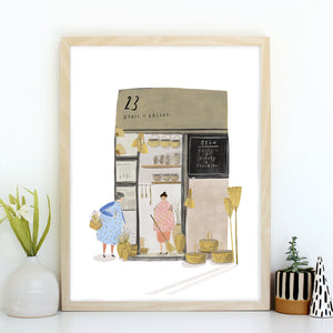 House of Baskets Giclée Art Print