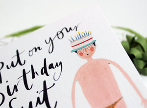 Funny Birthday card for him