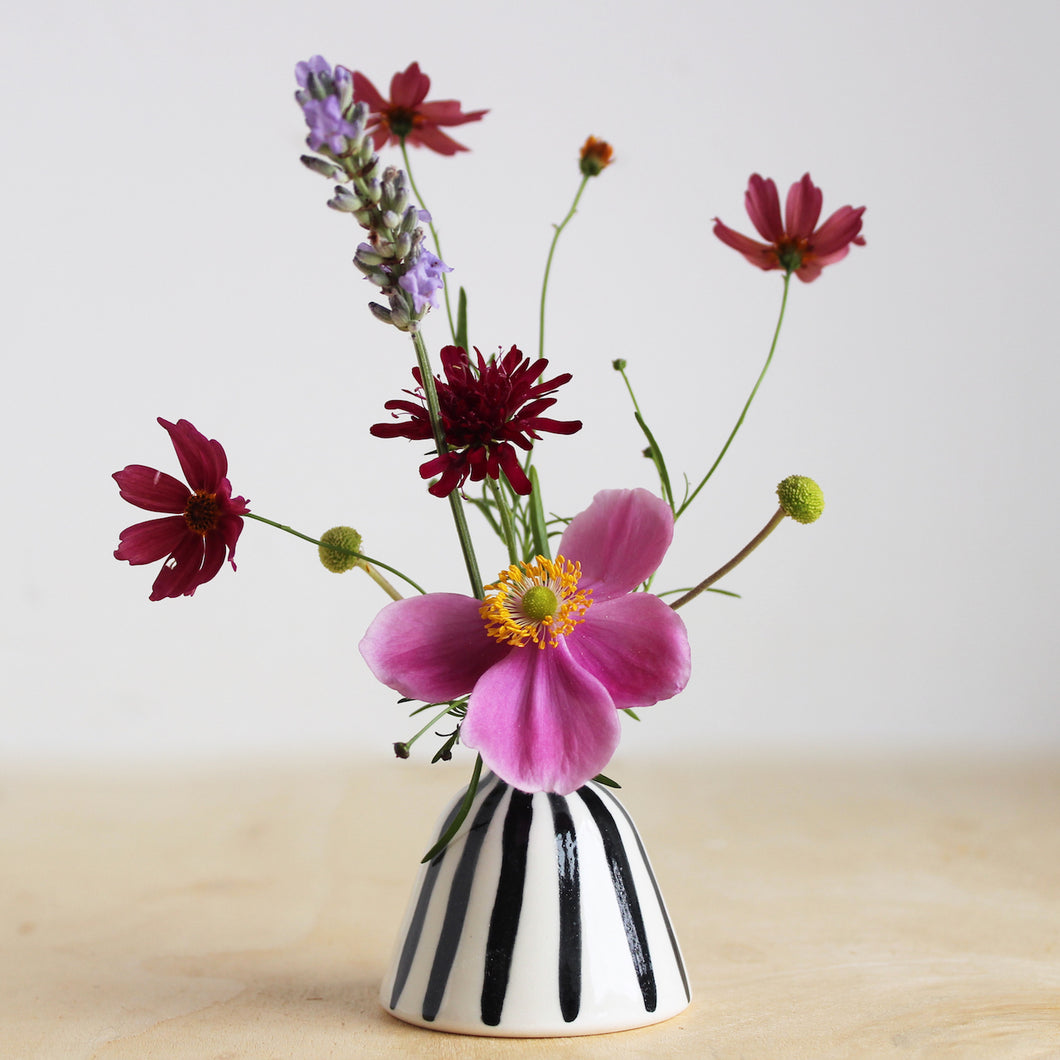 Miniature Striped Posy Pot