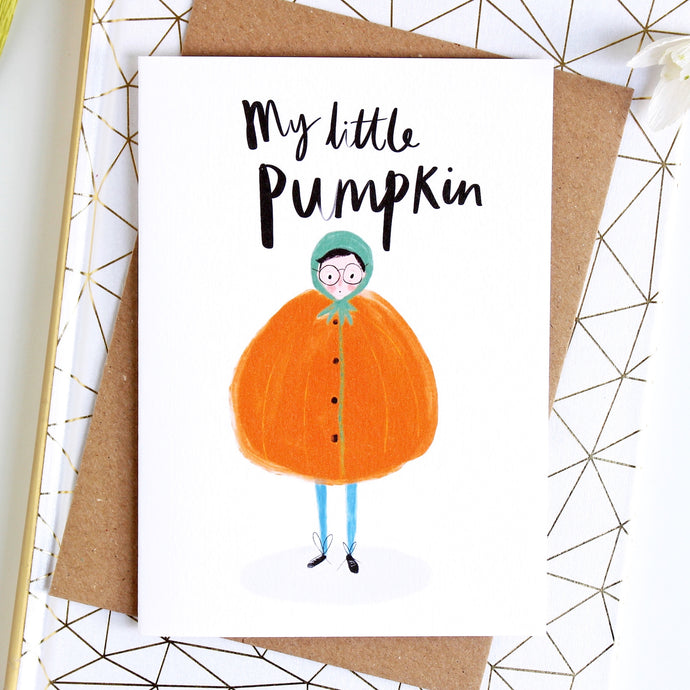 My Little Pumpkin Endearment Card