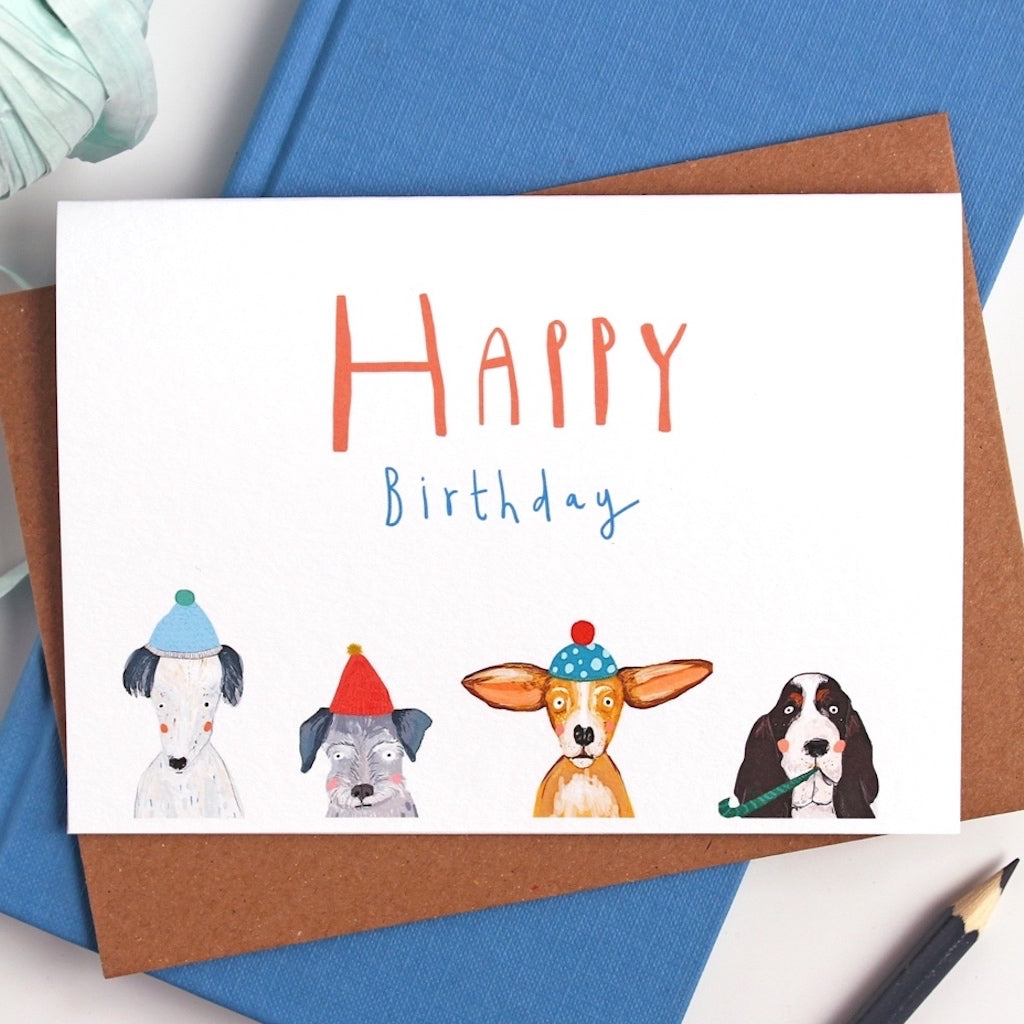 Party Dogs Happy Birthday Card