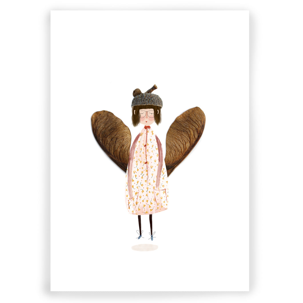 Little Pink Fairy A5 Giclée Art Print