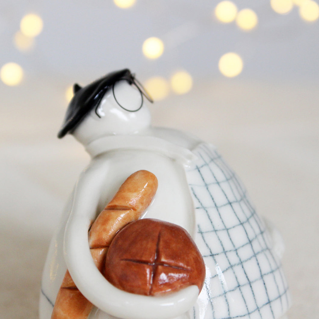 French Baker Ceramic Stargazer