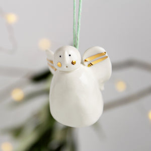 Snow Angel Ceramic Tree Decoration