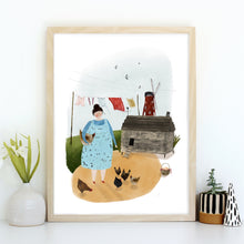 Chickens & Swallows Giclée Art Print
