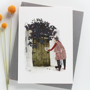 Blackberry Picking Giclée Art Print