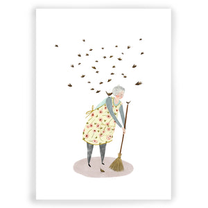 Lady and the Birds Giclée Print