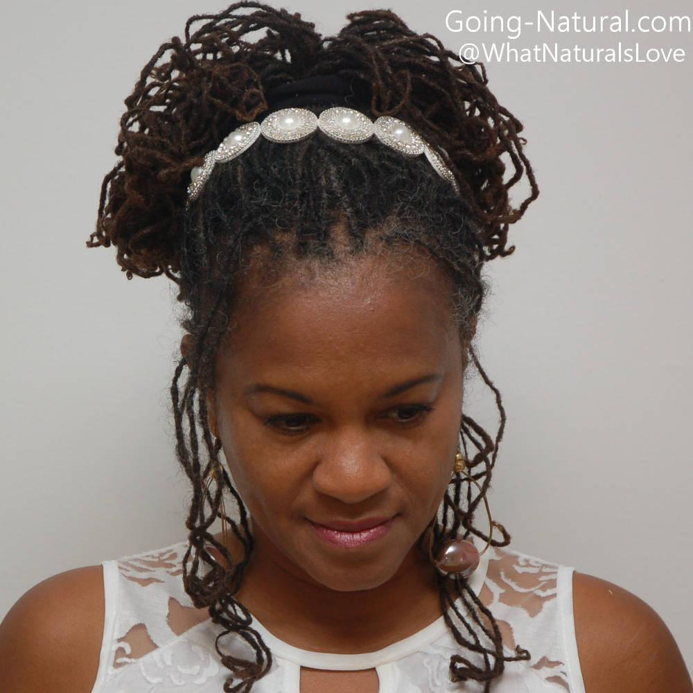 Braidlocs12 Bridal Style natural hair accessorie october1