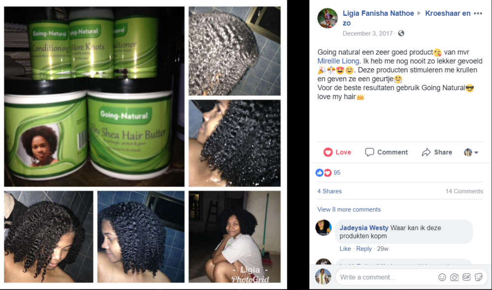 Ligia about Going natural Hair products