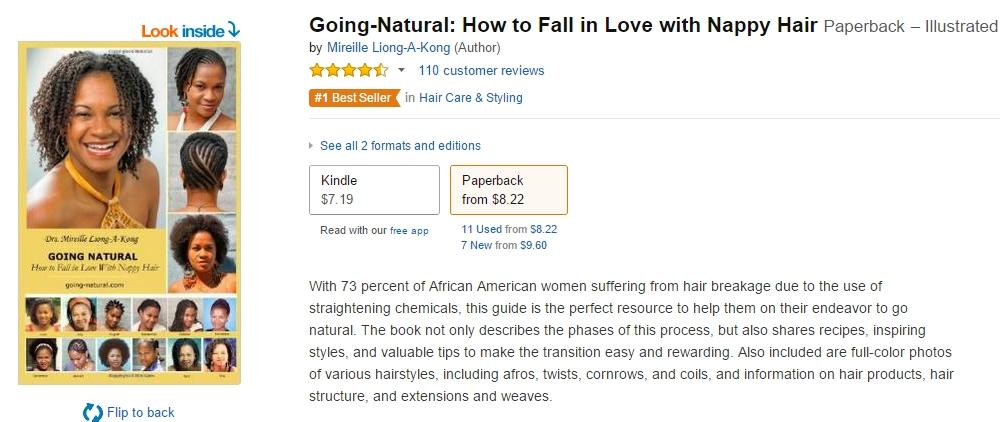 Going Natural How to Fall in Love with Nappy Hair nr. 1 op Amazon