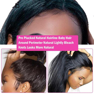 Malaysian Straight Lace Wig - Pruik voor Black Hair