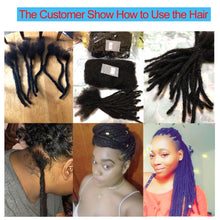 100% Human Hair Afro Kinky Remy Bulk for Loc Extensions and braids