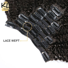 4B 4C Afro Kinky Curly Clip in Human Hair Extensions