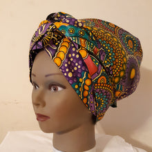 De Magic Head Wrap Purple Splash