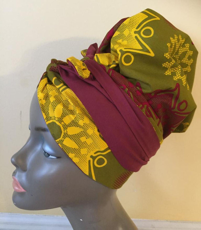 Magic Head Wrap Yellow Flower
