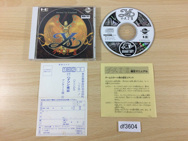df3604 Ys 1 & 2 Ancient Ys Vanished CD ROM 2 PC Engine Japan