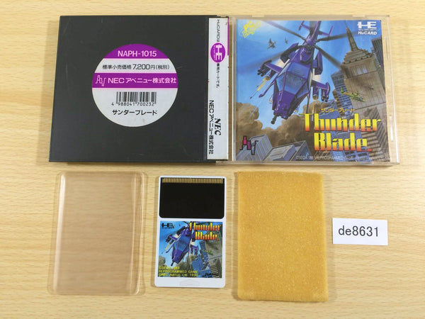 de8631 Thunder Blade BOXED PC Engine Japan
