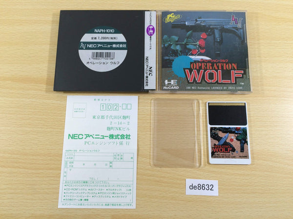 de8632 Operation Wolf BOXED PC Engine Japan