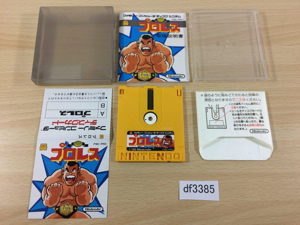 df3385 Pro Wrestling Famicom Wrestling Association BOXED Famicom Disk Japan