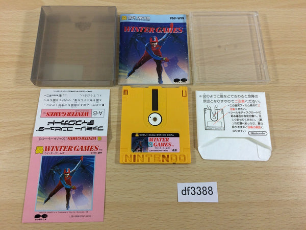 df3388 Winter Games BOXED Famicom Disk Japan