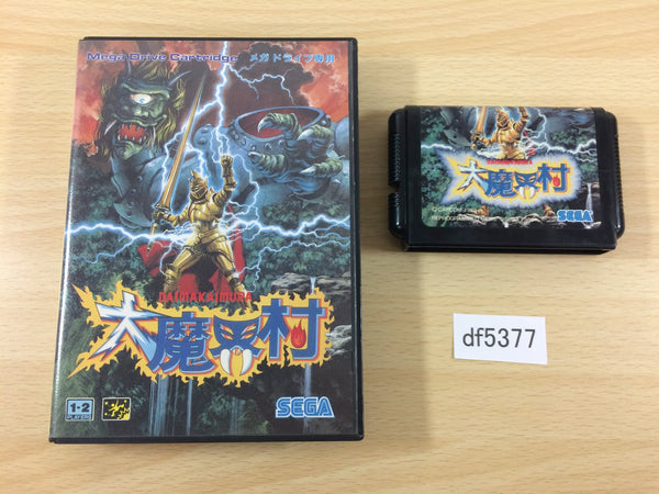 df5377 Ghouls 'n Ghosts Dai Makaimura BOXED Mega Drive Genesis Japan