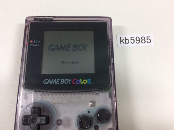 kb5985 GameBoy Color Clear Purple Game Boy Console Japan