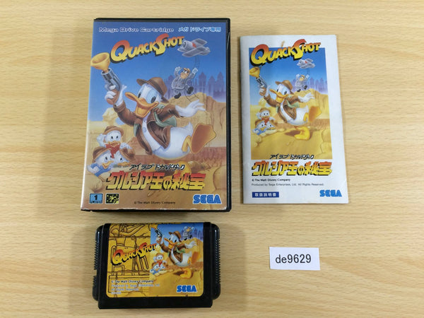 de9629 Quackshot I Love Donald Duck Georgia Hihou BOXED Mega Drive Genesis Japan