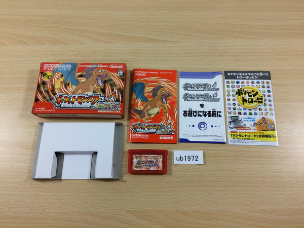 ub1972 Pokemon Fire Red BOXED GameBoy Advance Japan