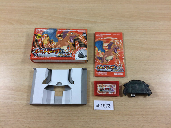ub1973 Pokemon Fire Red BOXED GameBoy Advance Japan