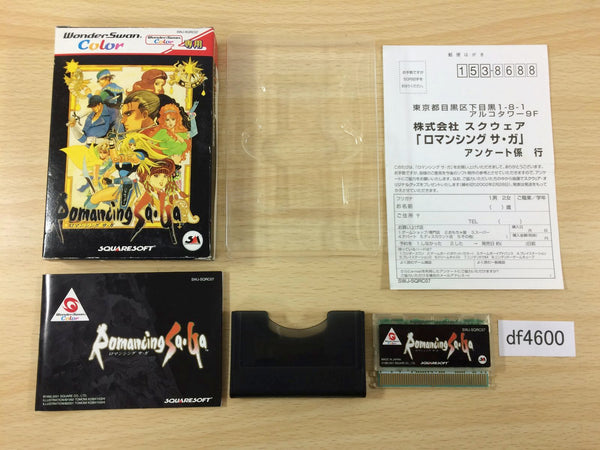df4600 Romancing Saga BOXED Wonder Swan Bandai Japan