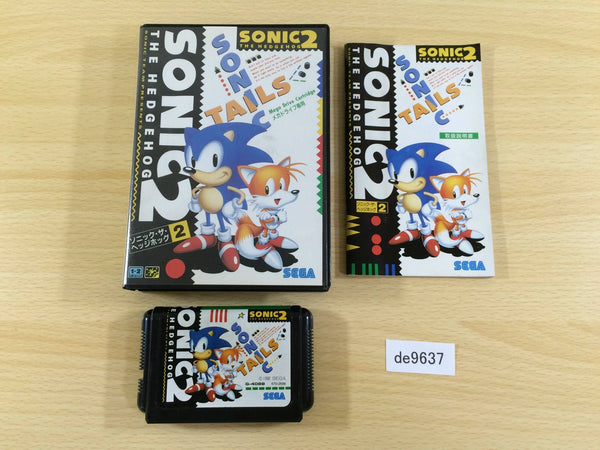 de9637 Sonic The Hedgehog 2 BOXED Mega Drive Genesis Japan