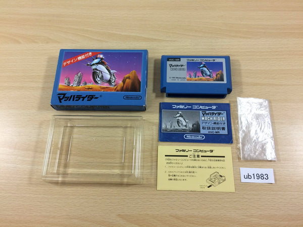 ub1983 Mach Rider BOXED NES Famicom Japan