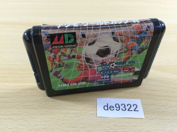 de9322 Tecmo World Cup '92 Mega Drive Genesis Japan
