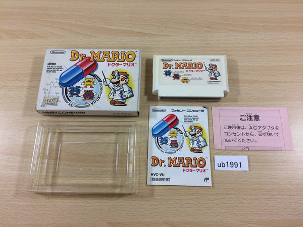 ub1991 Dr. Mario BOXED NES Famicom Japan