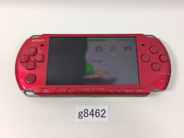 g8462 Plz Read Item Condi PSP-3000 RADIANT RED SONY PSP Console Japan