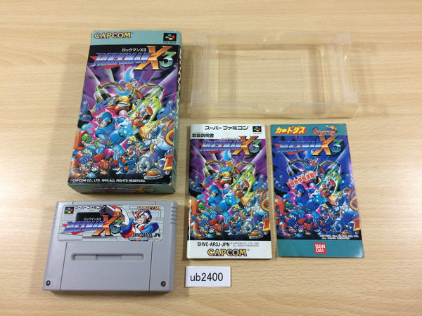 ub2400 Rockman X3 Megaman BOXED SNES Super Famicom Japan