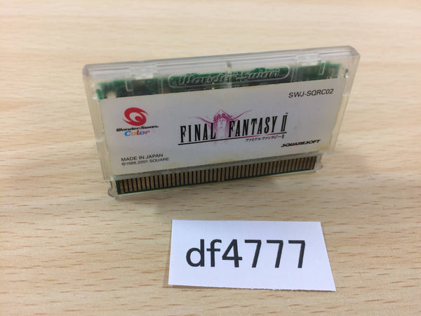 df4777 FINAL FANTASY II Wonder Swan Bandai Japan