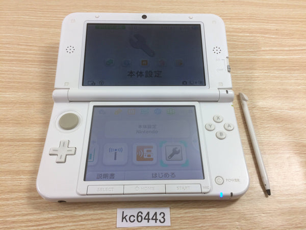 kc6443 No Battery Nintendo 3DS LL XL 3DS White Console Japan