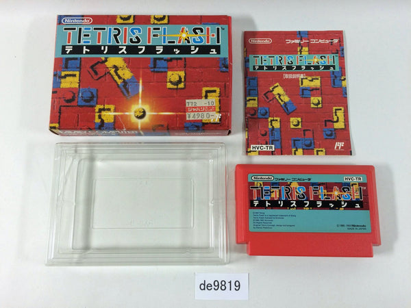 de9819 Tetris Flash BOXED NES Famicom Japan