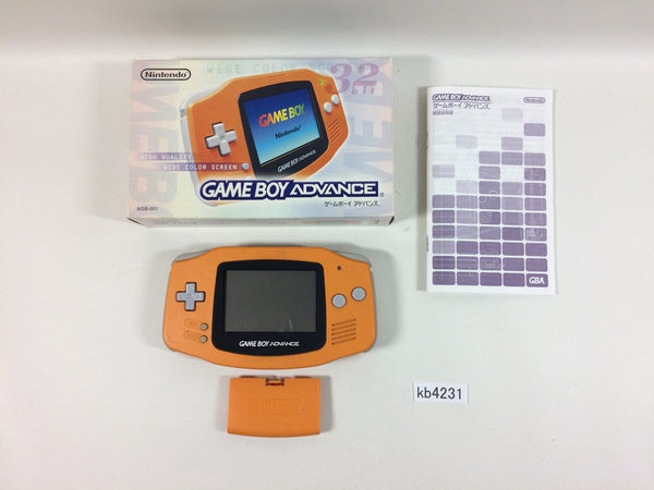 kb4231 GameBoy Advance Orange BOXED Game Boy Console Japan