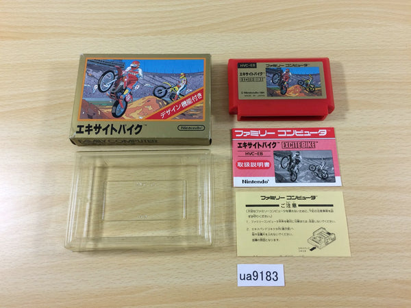ua9183 Excite Bike BOXED NES Famicom Japan
