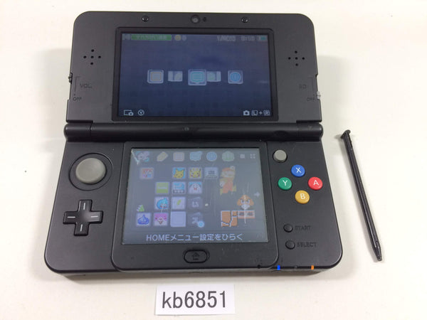 kb6851 Plz Read Item Condi Nintendo NEW 3DS BLACK Console Japan