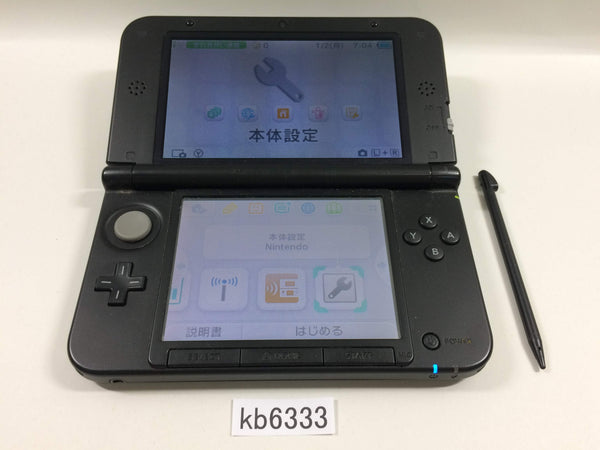 kb6333 Nintendo 3DS LL XL 3DS Black Console Japan