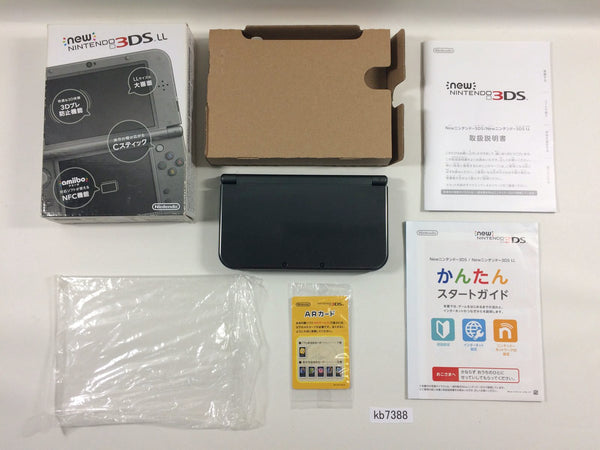 kb7388 Nintendo NEW 3DS LL XL METALLIC BLACK Console Japan