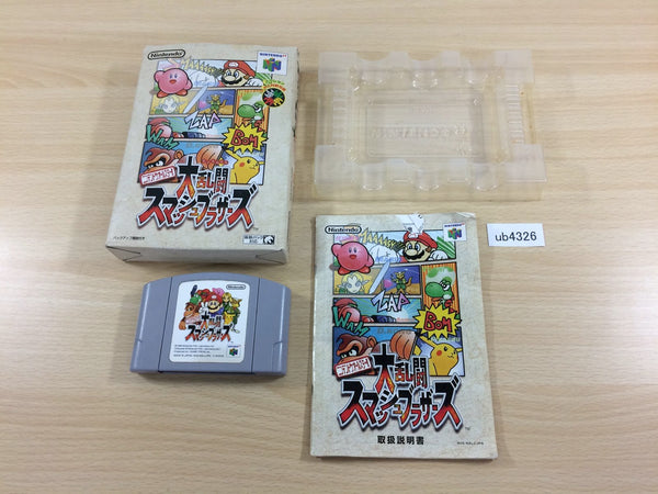 ub4326 Super Smash Bros. Dairanto Smash Brothers BOXED N64 Nintendo 64 Japan