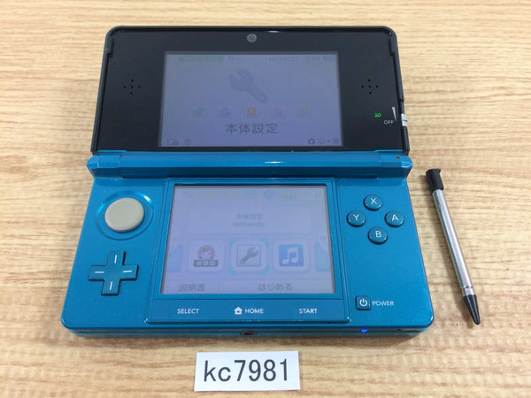 kc7981 No Battery Nintendo 3DS Aqua Blue Console Japan