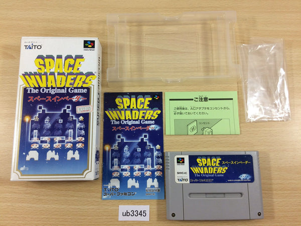 ub3345 Space Invaders The Original Game BOXED SNES Super Famicom Japan